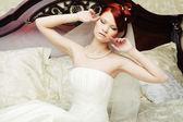 Portrait beautiful bride — Stock Photo
