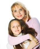 Młody piękny matka i jej córeczka — Zdjęcie stockowe