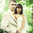 Wedding couple outdoor — Stock Photo #30348727
