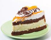 Sweet cake over white background — Stock Photo