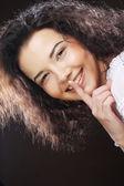 Retrato de belleza. pelo rizado — Foto de Stock