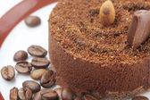 Karanlık çikolatalı kek — Stok fotoğraf