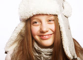Child girl with winter clothes — Stock Photo