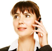 Woman on Phone — Stock Photo