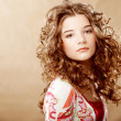 Beauty Portrait. Curly Hair — Stock Photo #30985903