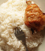 Kycklingfilé med ris — Stockfoto