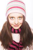 Muchacha del niño con ropa de invierno — Foto de Stock