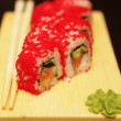 Traditional japanese food roll sushi — Stock Photo
