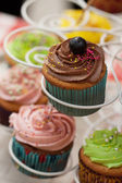 Vintage cupcakes — Stock Photo
