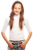 Picture of a funny little girl — Stock Photo