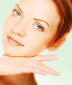 Rostro de mujer hermosa salud — Foto de Stock