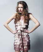 Mujer moda joven — Foto de Stock