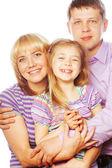štěstí rodina — Stock fotografie