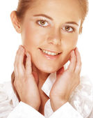 Young adult woman with health skin of face — Stock Photo