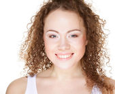 Beautiful happy portrait of an young adult woman — Stock Photo