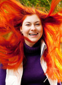 Portrait of beautiful charming smiling woman — Stock Photo