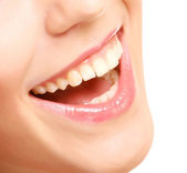 Smile with healthy teeth — Stock Photo