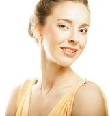 Woman on white background — Stock Photo