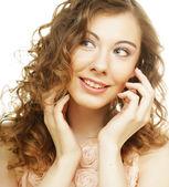 年轻快乐的女人 — 图库照片