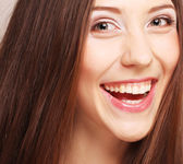Laughing female. Close up. — Stock Photo