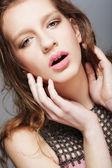 Natural fashion make-up — Stock Photo