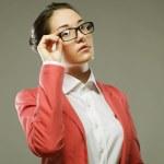 Business woman wearing glasses — Stock Photo