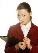 Sonriente mujer de negocios — Foto de Stock