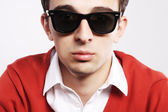 Young model wearing sunglasses — Stock Photo