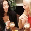 Young women having coffee break together — Stock Photo #40880383