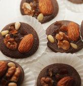 Chocolated 甜果仁糖的变化 — 图库照片