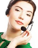 женщина - рабочий обслуживания клиентов — Стоковое фото