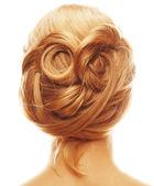 L'arrière d'une femme blonde. — Photo