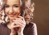Bella mujer sonriente feliz — Foto de Stock