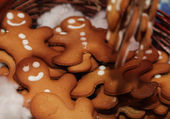 Smiling gingerbread mens — Stock Photo