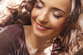 Beautiful young happy smiling woman — Stock Photo