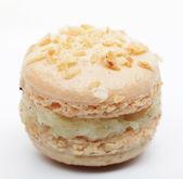 Vanilla macaroon isolated on white — Stock Photo