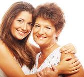 Szczęśliwą matką dojrzały ang córka dorosły — Zdjęcie stockowe