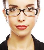 Mulher de negócios jovem com óculos — Foto Stock