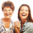 Happy mature mother ang adult daughter — Stock Photo #43856267