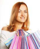 Mulher sexy de compras — Foto Stock
