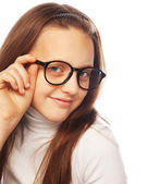Shot of a little girl in glasses — Stock Photo