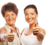 Mature mother and attractive daughter — Stock Photo