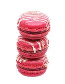 Tasty pink macaroons — Foto Stock