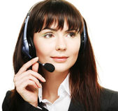 Operatore telefonico supporto allegro — Foto Stock