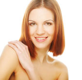 Beautiful young woman with clean skin — Stock Photo