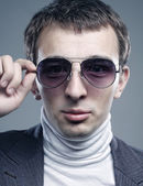 Young man in sunglasses. — Stock Photo