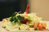 Caesar salad with shrimp — Stock Photo