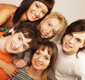 Young people smiling — Foto Stock