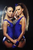 Two  striptease girls — Stock Photo