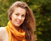 Portrait of beautiful charming smiling woman — Stock Photo
